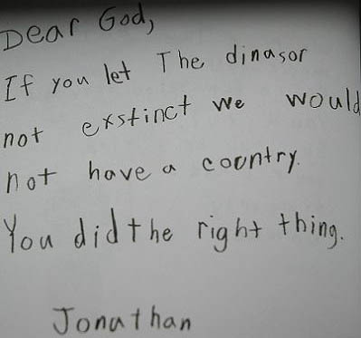 Letters to God from children.