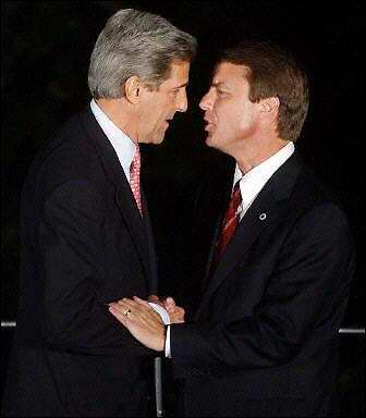 A bunch of funny pictures of John Kerry and John Edwards.