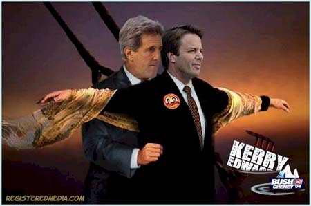 bunch of funny pictures of John Kerry and John Edwards.